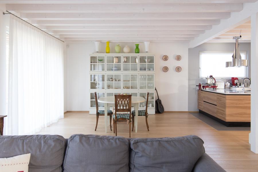 In soggiorno tanto legno