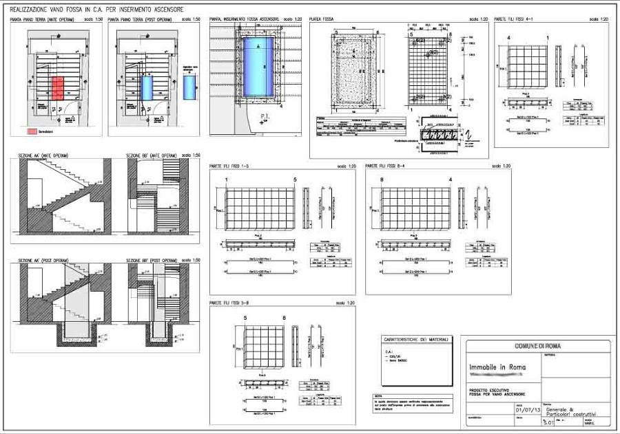 Progetto per inserimento ascensore in fabbricato idee for Dimensioni ascensore