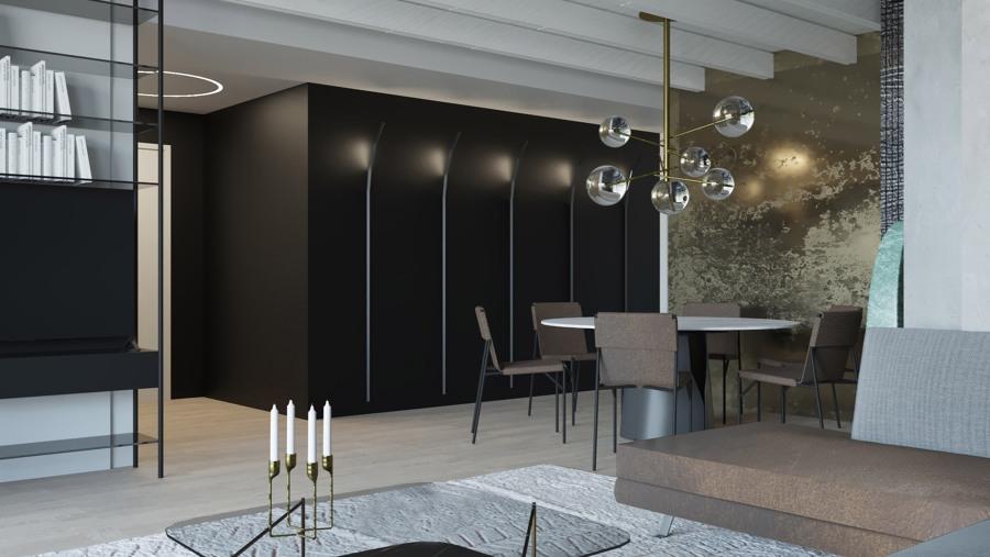 Interior design villa unifamiliare