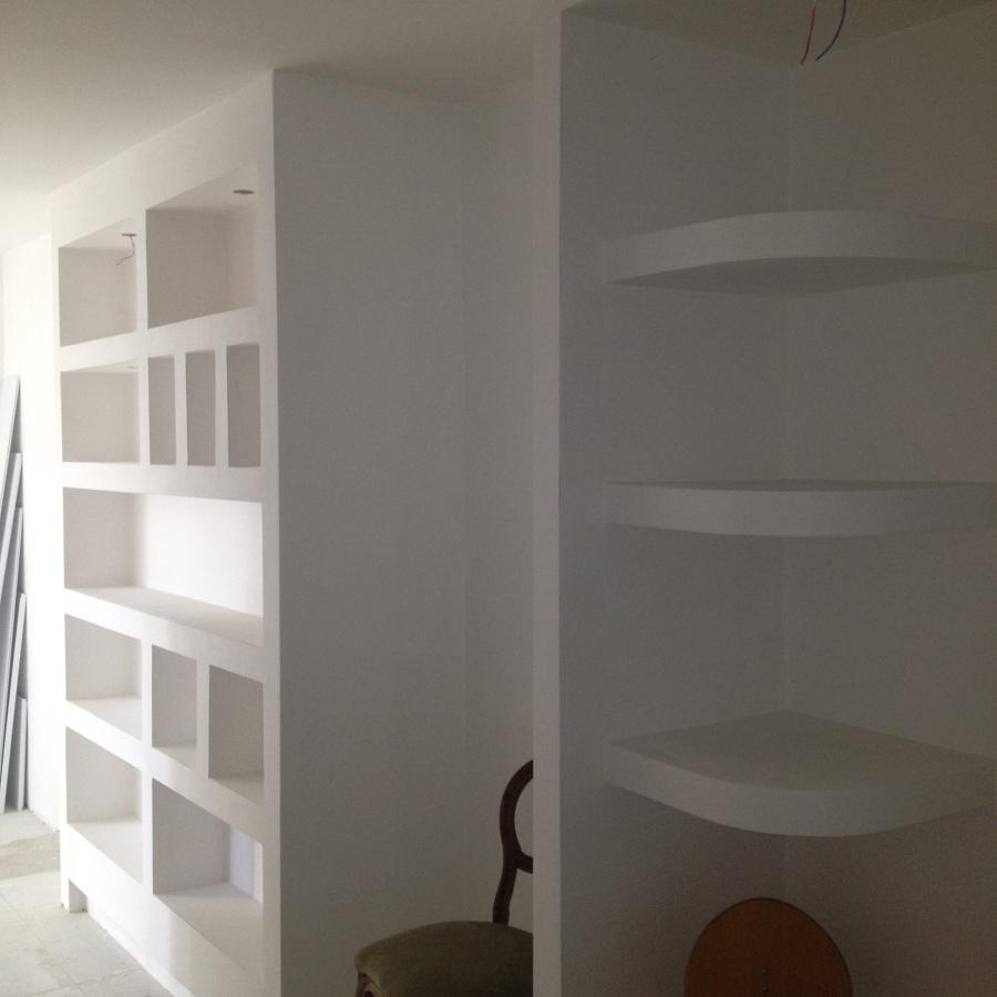 interni, appartamento, pareti attrezzate e libreria