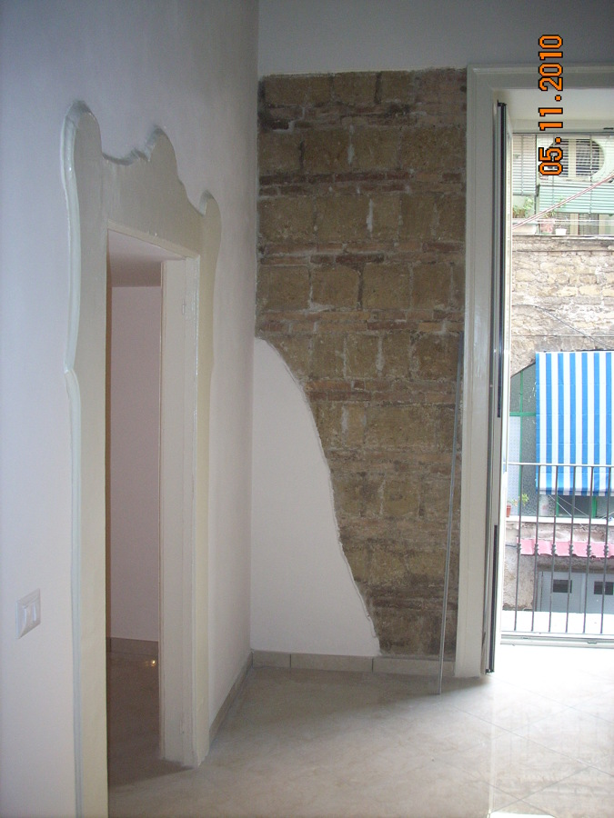 interni, appartamento, restauro paramento murario