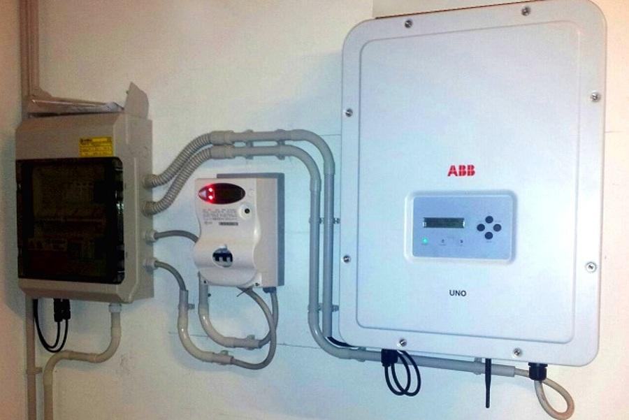 Inverter e quadro elettrico impianto