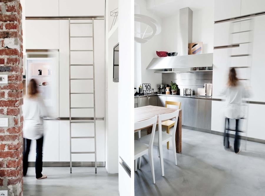 Vivere in 30 mq con soppalco una casa per single in - Cucina con soppalco ...