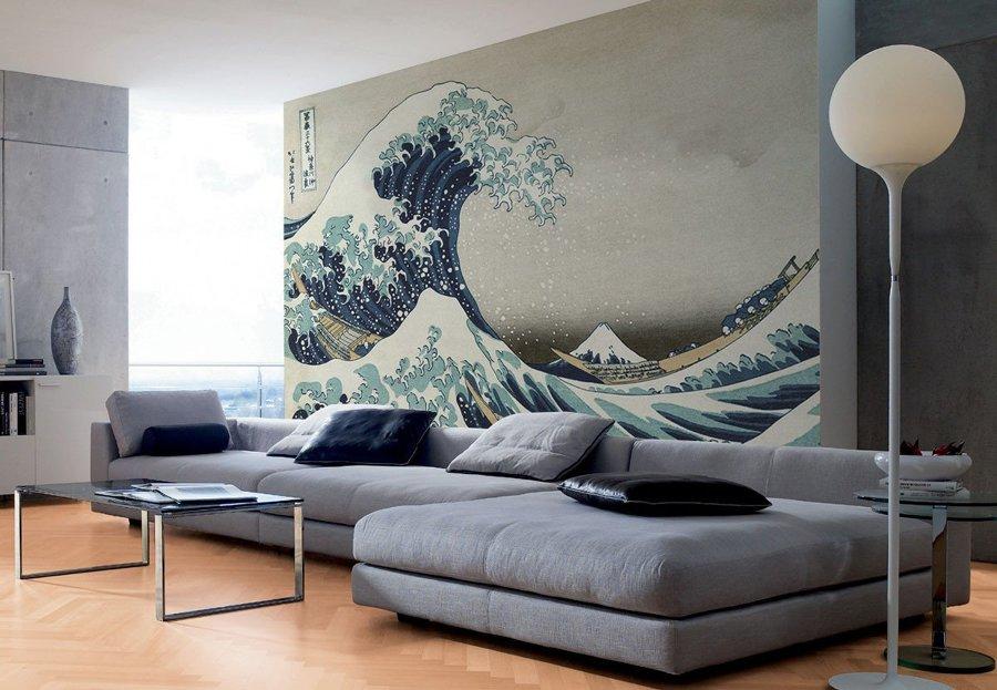 La grande onda di Hokusai suu carta da parati