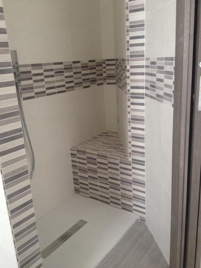 la nuova doccia con sedile