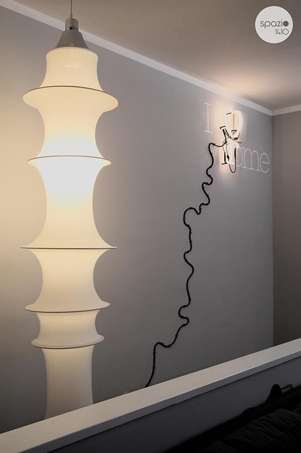 La parete delle scale