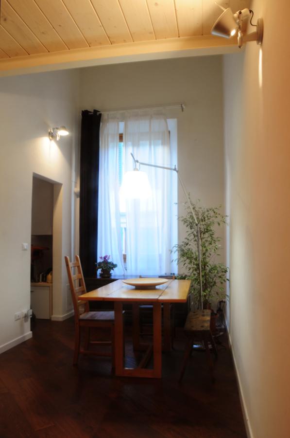 la piccola sala da pranzo