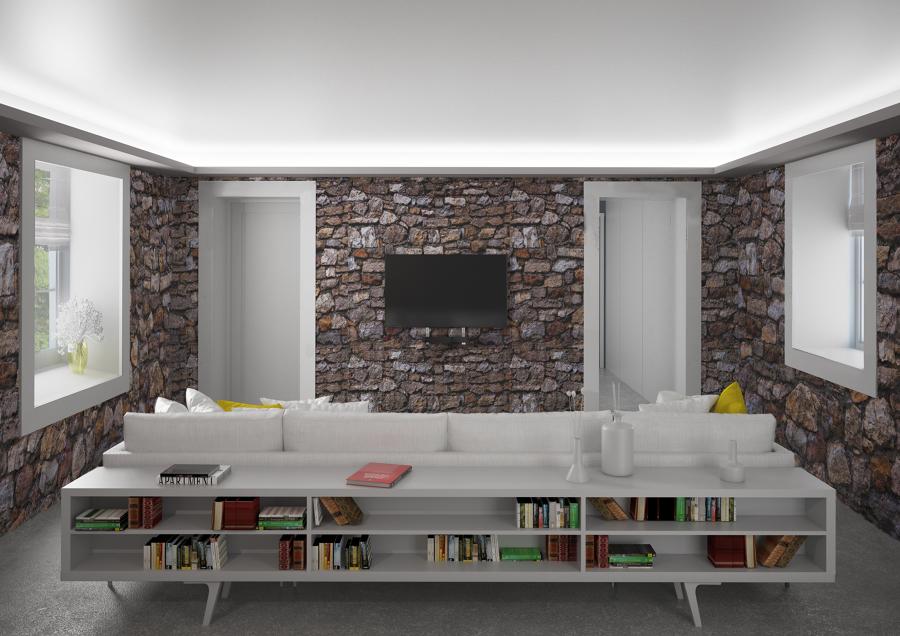 la stanza pietra e luce integrata