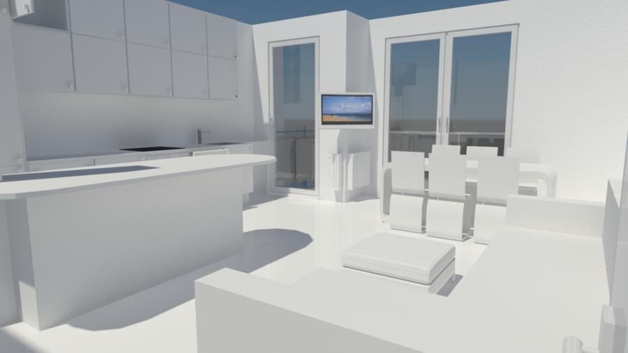 Foto: La Zona Living Vista Dall\'ingresso con L\'isola della Cucina ...
