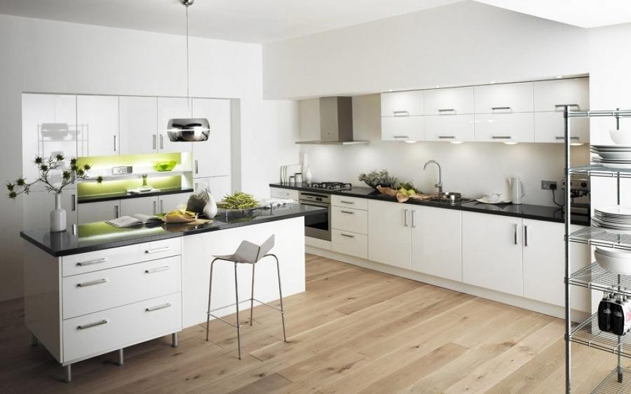Scegli il miglior pavimento per la tua cucina idee - Pavimento laminato per cucina ...