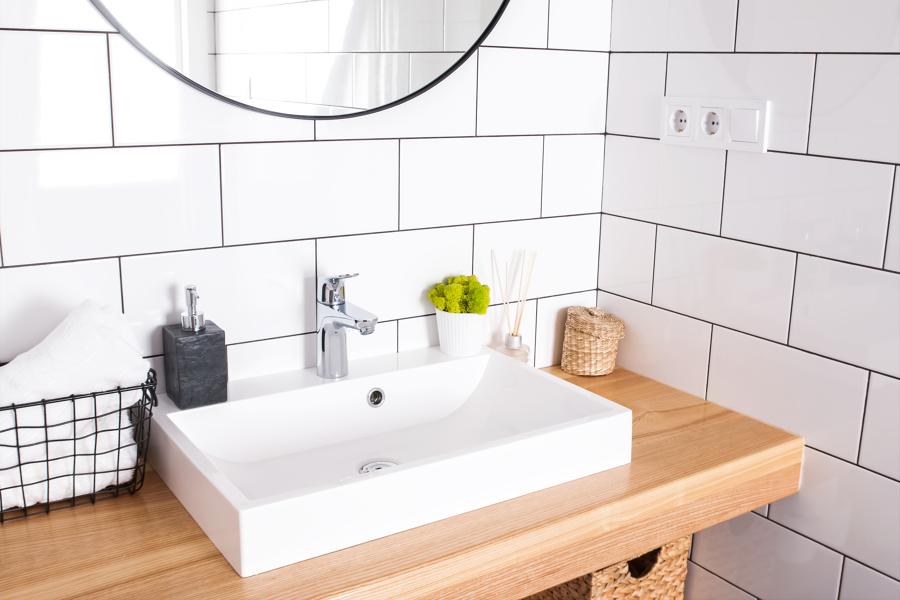 lavandino bagno rettangolare
