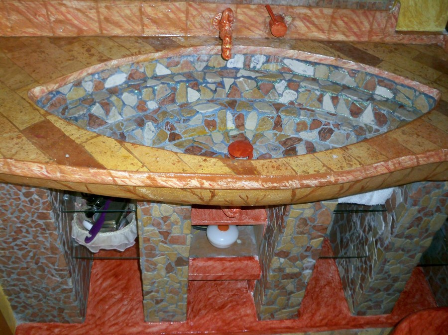 Progetto realizzazione bagno idee ristrutturazione bagni - Lavandino bagno in muratura ...