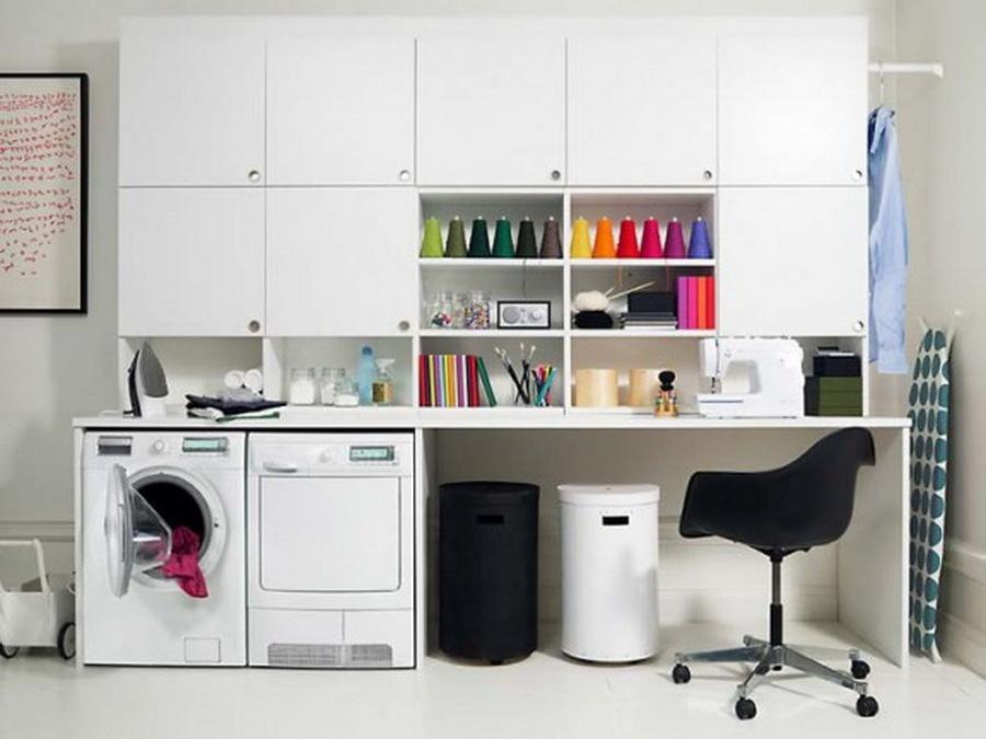 lavatrice e asciugatrice in studio