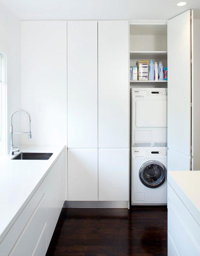 Strategie salvaspazio idee falegnami - Lavatrice in cucina ...