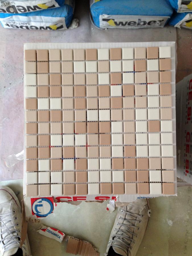 Le piastrelle del bagno 1 - Mosaico Doccia 2.5x2.5