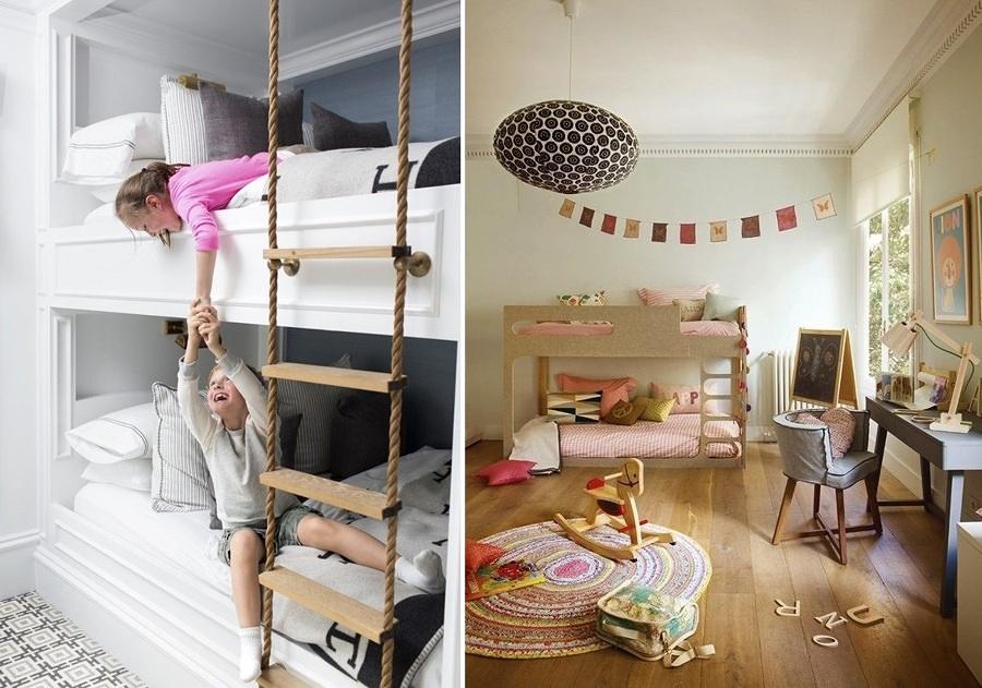 Poco spazio nella camera dei bambini i letti a castello - Idee per camera bambini ...