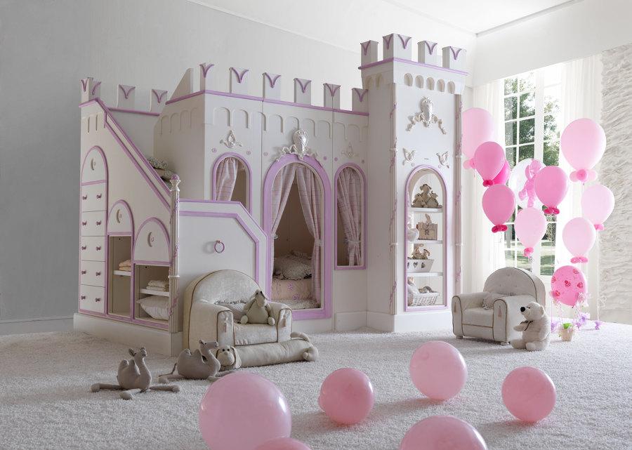 Foto letto castello per bambine di marilisa dones 361218 habitissimo - Letto a castello a tre ...