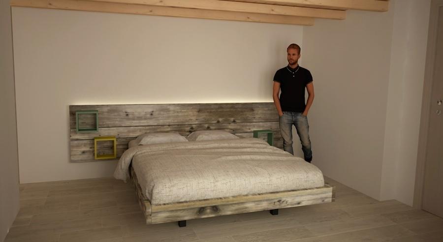 letto in legno antico