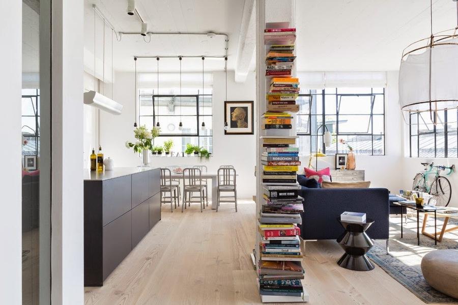 Arredare Soggiorno Con Colonne E Pilastri : Foto libreria a colonna design di manuela occhetti
