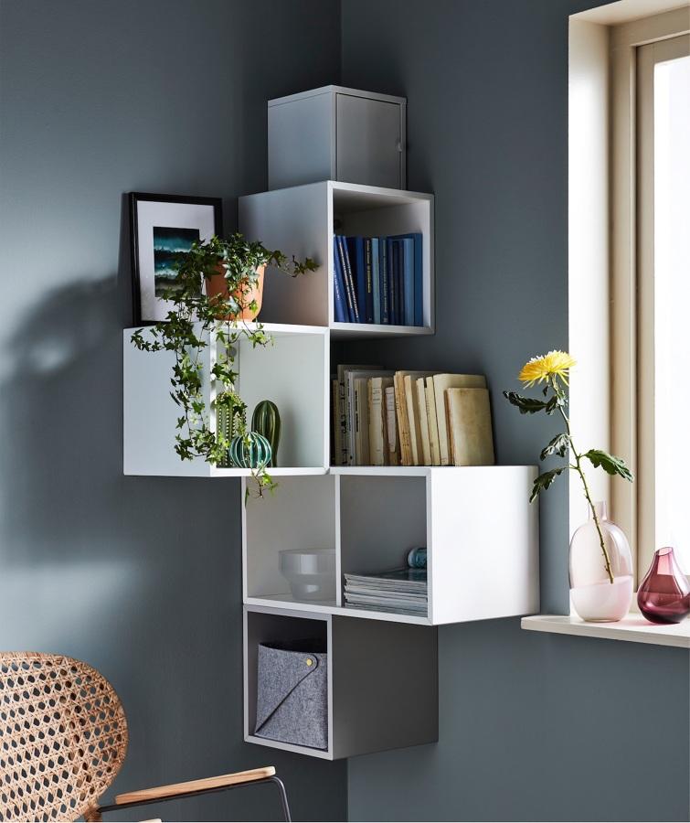 Libreria con moduli EKET  di Ikea