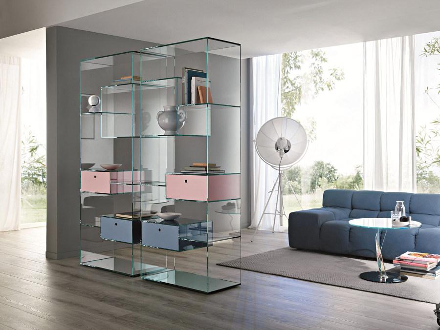 libreria vetro sala