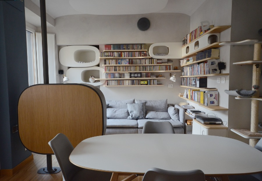 Living: angolo TV e libreria
