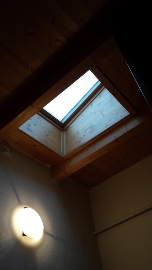 Lucernario per accesso tetto dalla scala