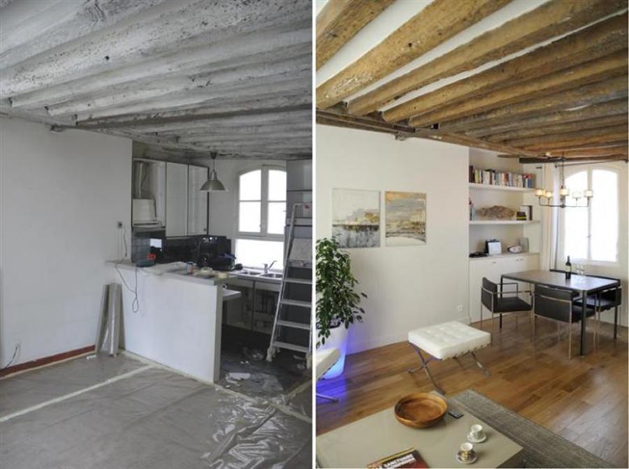 Ristrutturazione completa mansarda di 53mq valle d 39 aosta commitenza priva - Amenagement appartement 40m2 ...