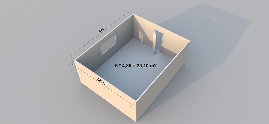 Come misurare i metri quadri esatti di soffitto e pareti for Casa di 1200 metri quadrati