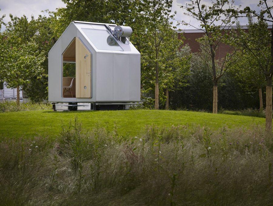 Diogene, mini casa prefabbricata progettata da Renzo Piano