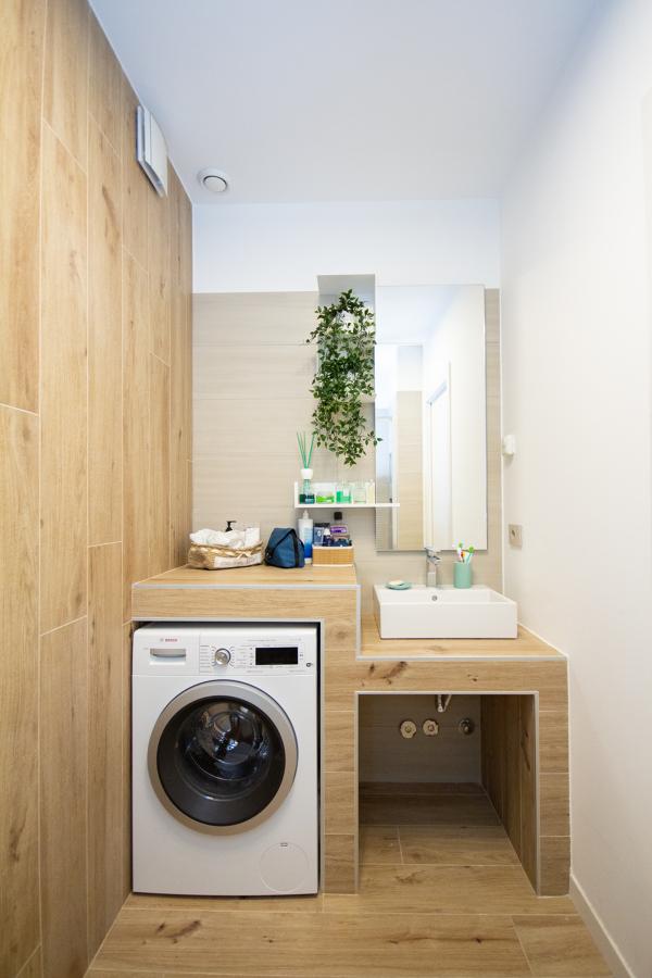 mobile bagno in muratura con lavanderia