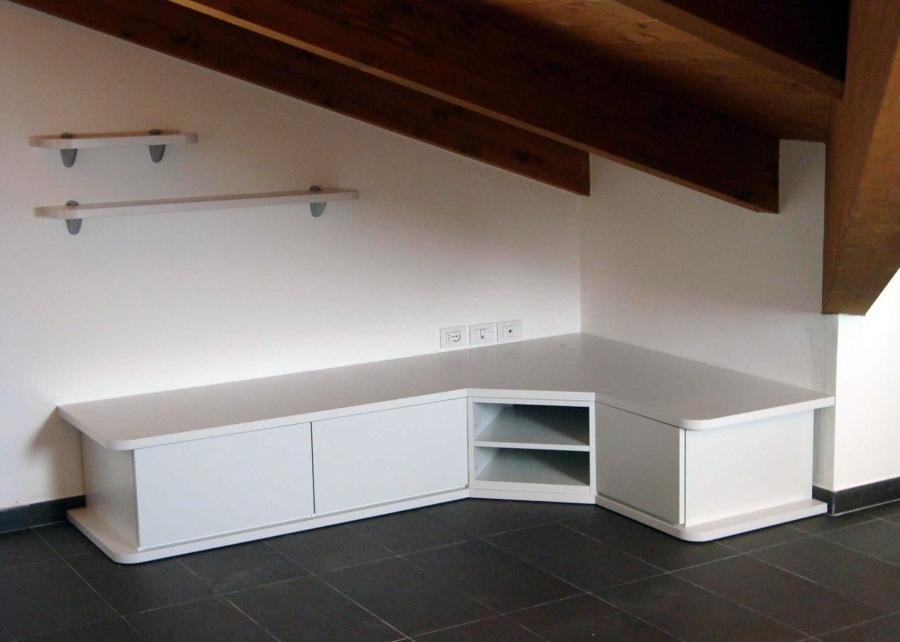 Progetto arredamento appartamento riccione idee mobili - Mobili su misura mansarda ...