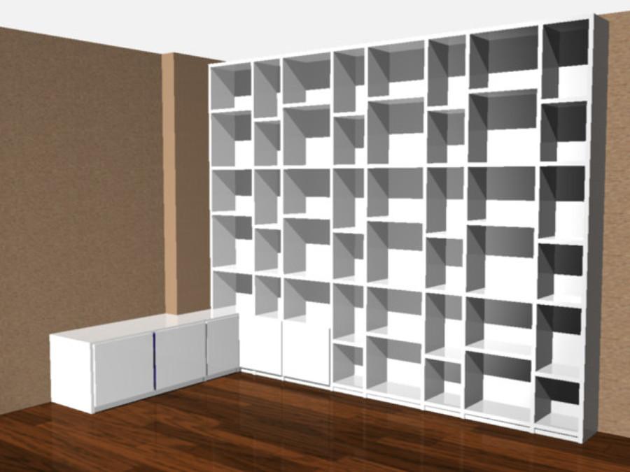Mobile Soggiorno Libreria Laccato Bianco Idee Armadi