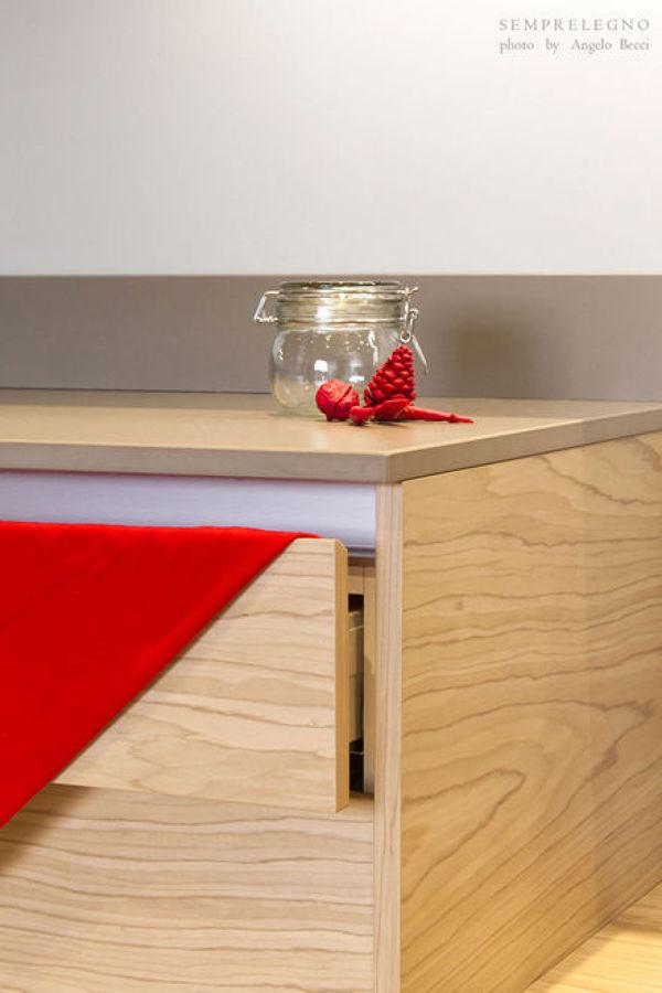 Mobili base su misura per cucina moderna