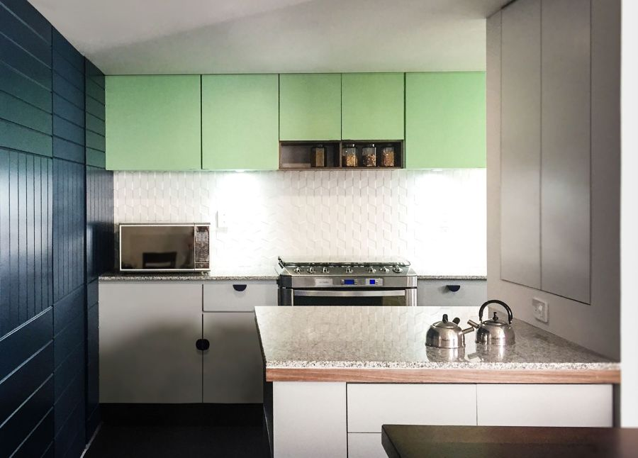 mobili cucina verde menta