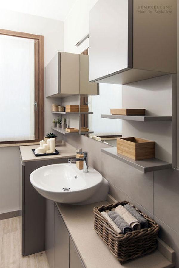 Soggiorno design con cucina a vista e camera da letto arredata su misura idee ristrutturazione - Camere da bagno ...