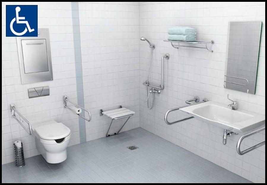 Progetto adattamento bagno per disabili a torino idee - Normativa bagno disabili ...
