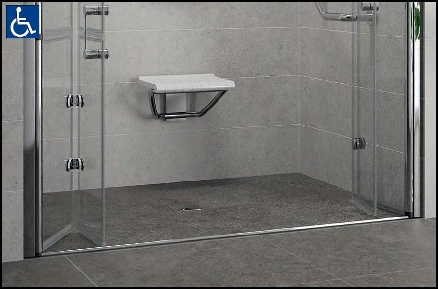 Progetto doccia per disabili a torino to idee - Piatto doccia incassato nel pavimento ...