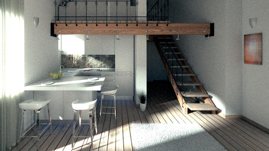 Foto monolocale con soppalco di infinity home recovery for Case in vendita con appartamento seminterrato