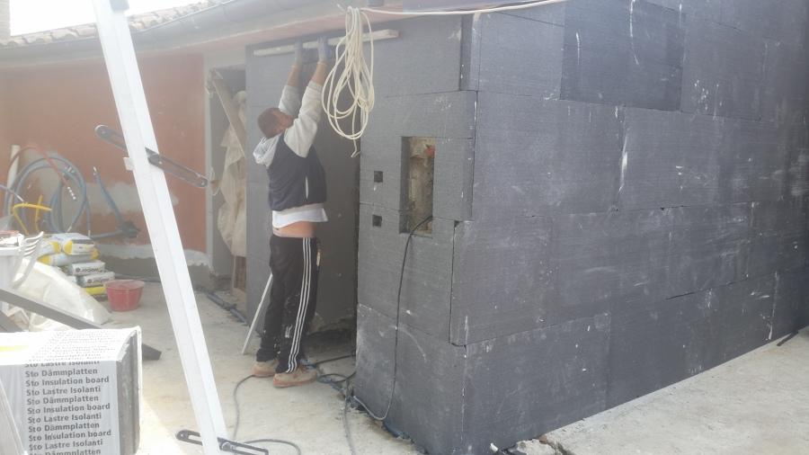 montaggio del cappotto termico