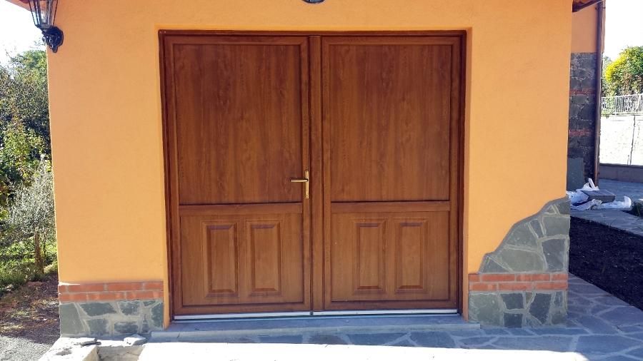 Foto montaggio ingresso garage in pvc di alfa serramenti - Ingresso garage ...