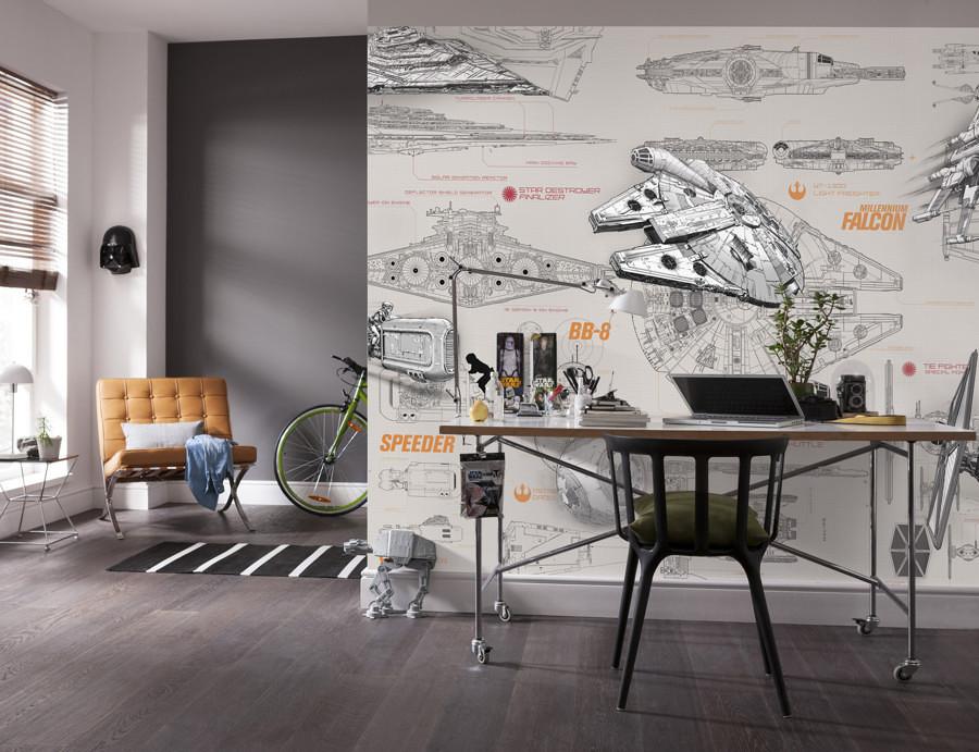 Decorazione star wars tutto quello di cui un vero fan ha bisogno in casa idee interior designer - Wallpaper volwassen kamer trendy ...