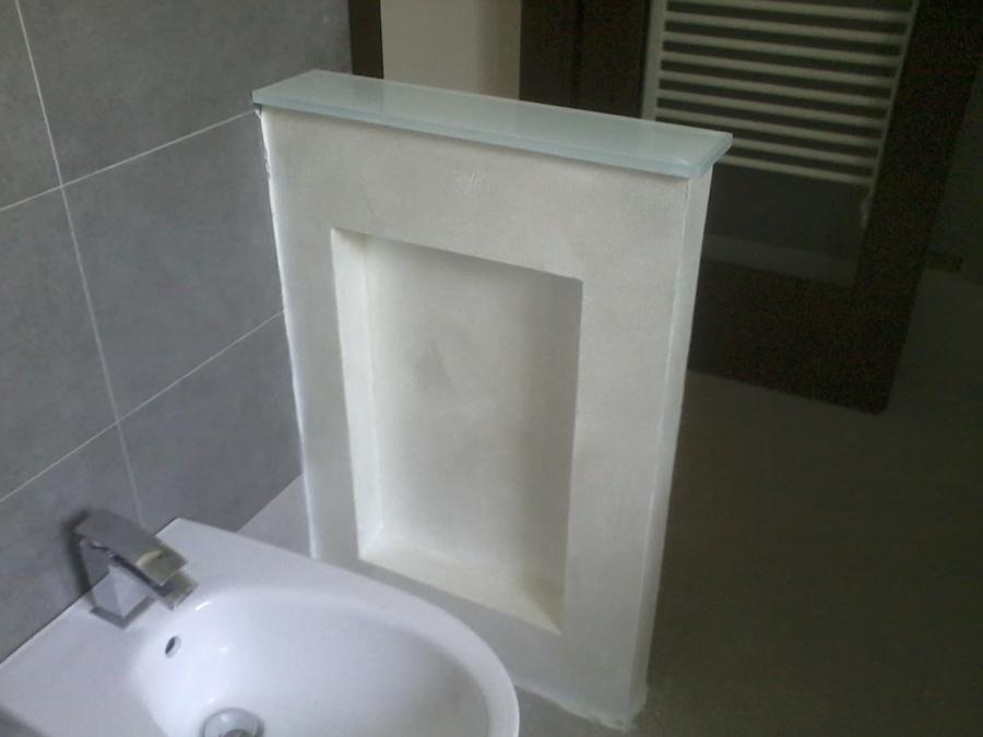 Arredamento di antibagno e bagno idee mobili - Bagno con muretto ...