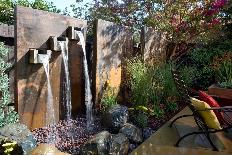 muro d'acqua in terrazza