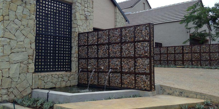 muro d'acqua per esterni