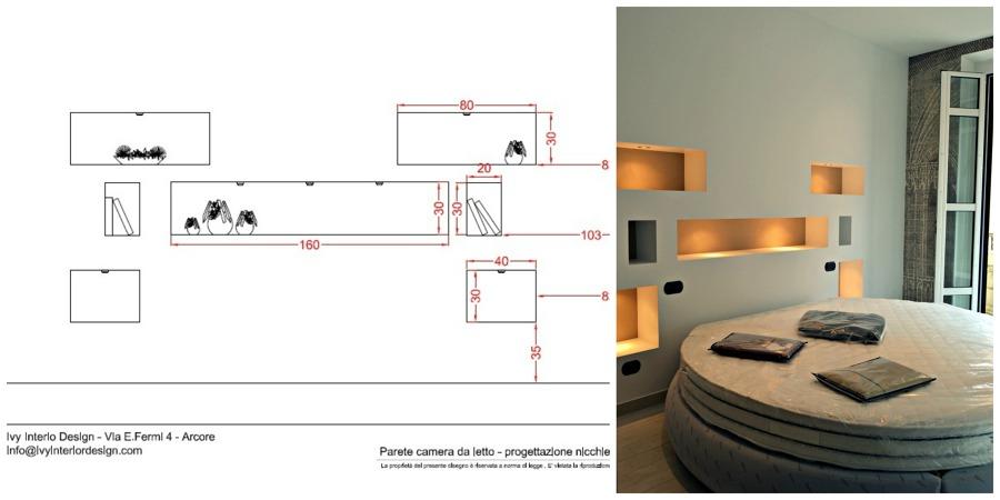 Foto nicchie camera da letto di brambilla for Piani di camera da letto aggiunta