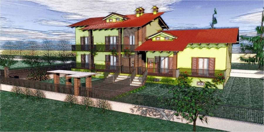Progetto costruzione casa trifamiliare idee costruzione for Progetto casa moderna nuova costruzione