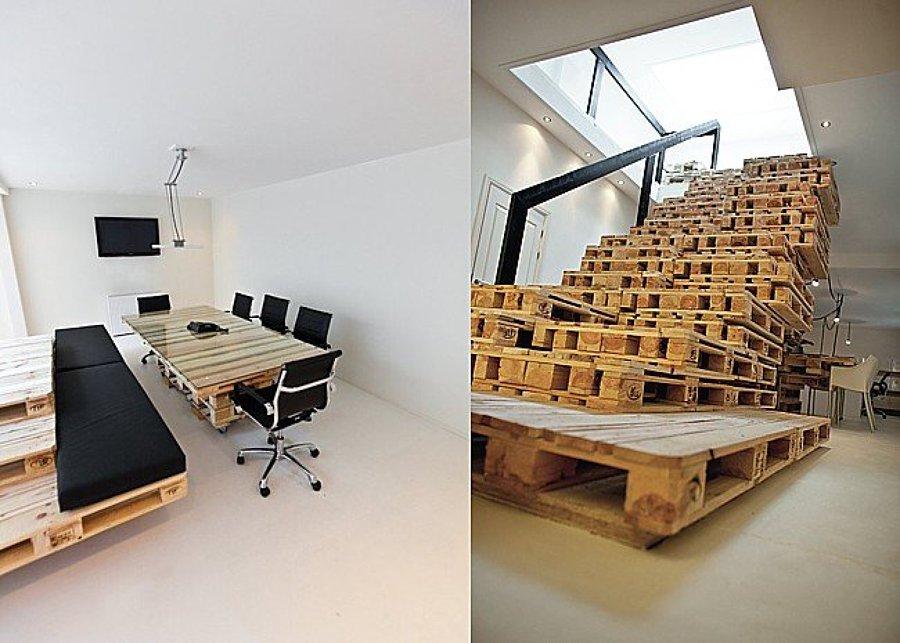 Pallet come arredare un ufficio con materiali riciclati idee interior designer - Arredare ufficio idee ...