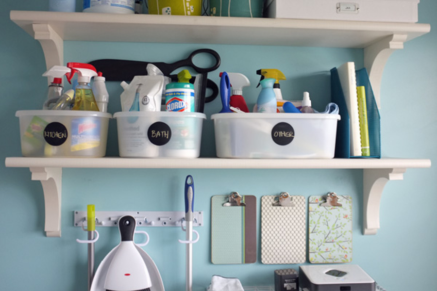 Organizzare prodotti per la pulizia