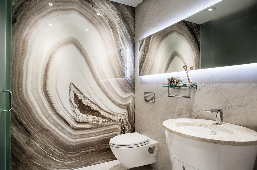 pannello decorativo in bagno